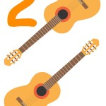 flashcard-number-two-guitars
