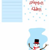 Christmas Card - Snowman