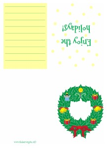 Christmas Card - Wreath