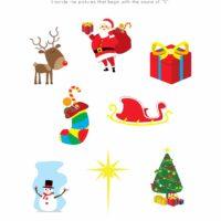 Christmas Phonics Worksheet 1