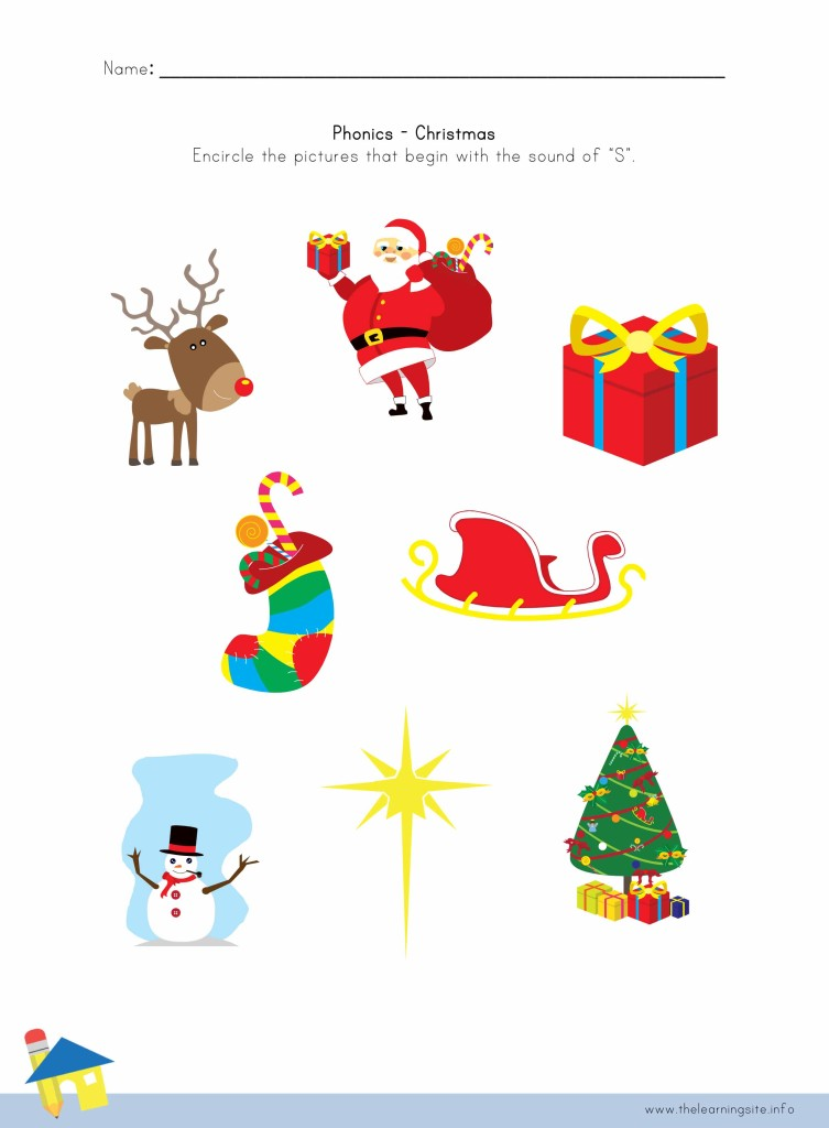 Click here for more Christmas phonics worksheets .