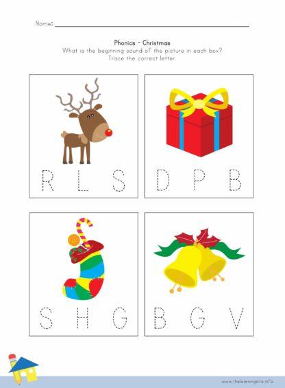 Christmas Phonics Worksheet 2