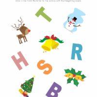Christmas Phonics Worksheet 3
