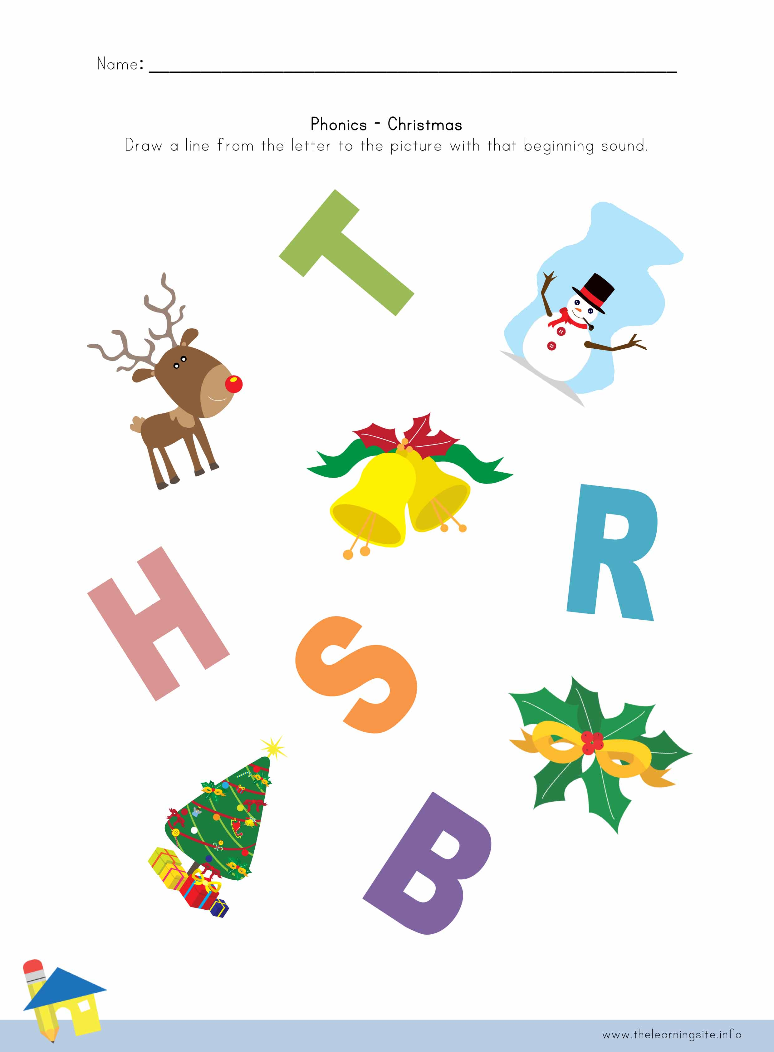 Christmas Phonics Worksheet 3