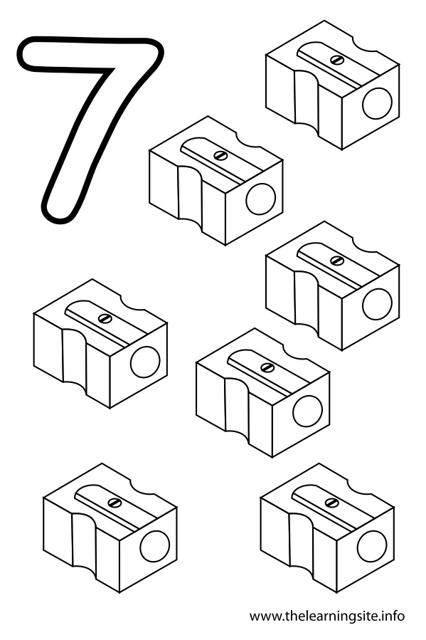 coloring-page-outline-number-seven-sharpeners