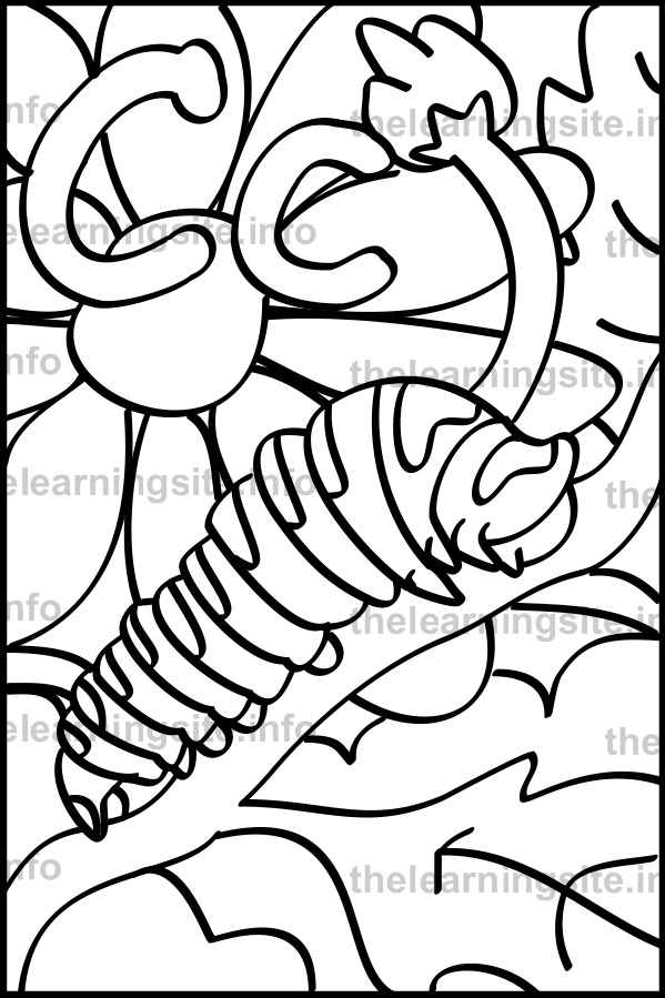 coloring-page-outline-alphabet-letter-c-catterpillar-sample