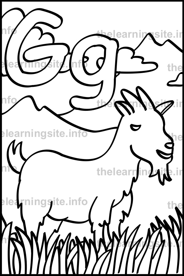 coloring-page-outline-alphabet-letter-g-goat-sample