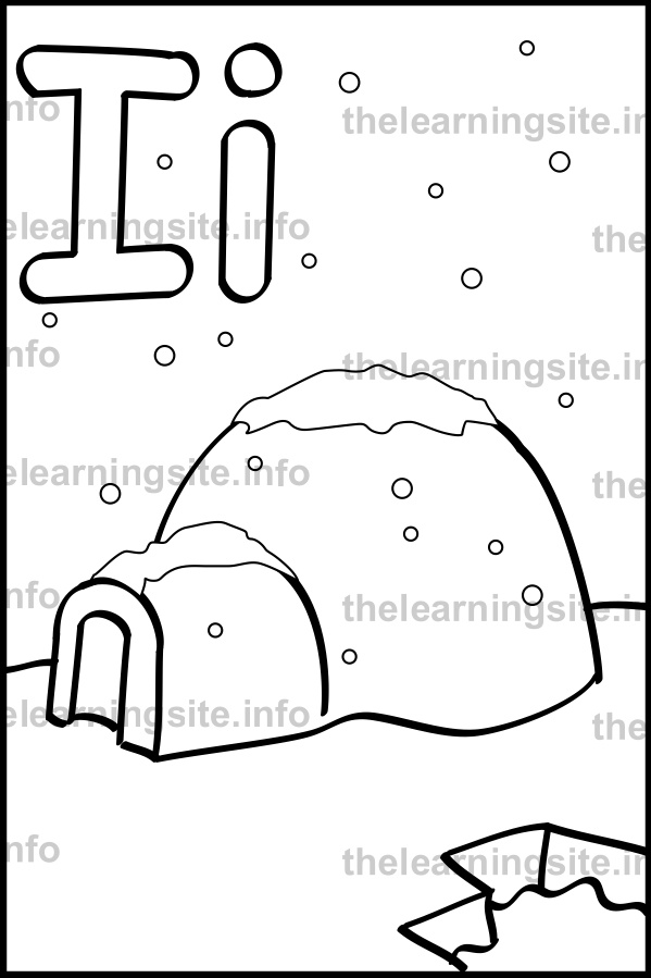 coloring-page-outline-alphabet-letter-i-igloo-sample