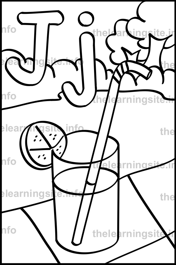 coloring-page-outline-alphabet-letter-j-juice-sample