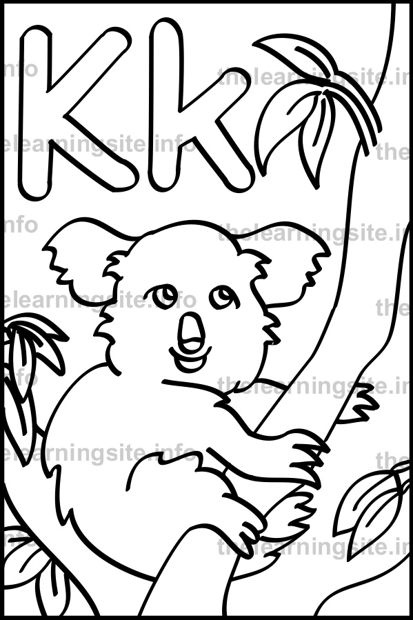 coloring-page-outline-alphabet-letter-k-koala-sample
