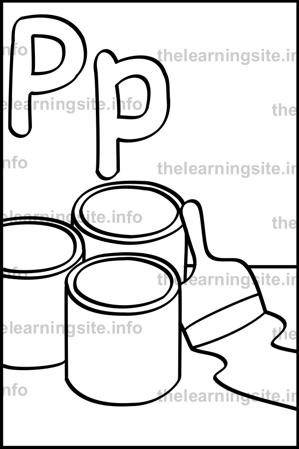 coloring-page-outline-alphabet-letter-p-paint-sample