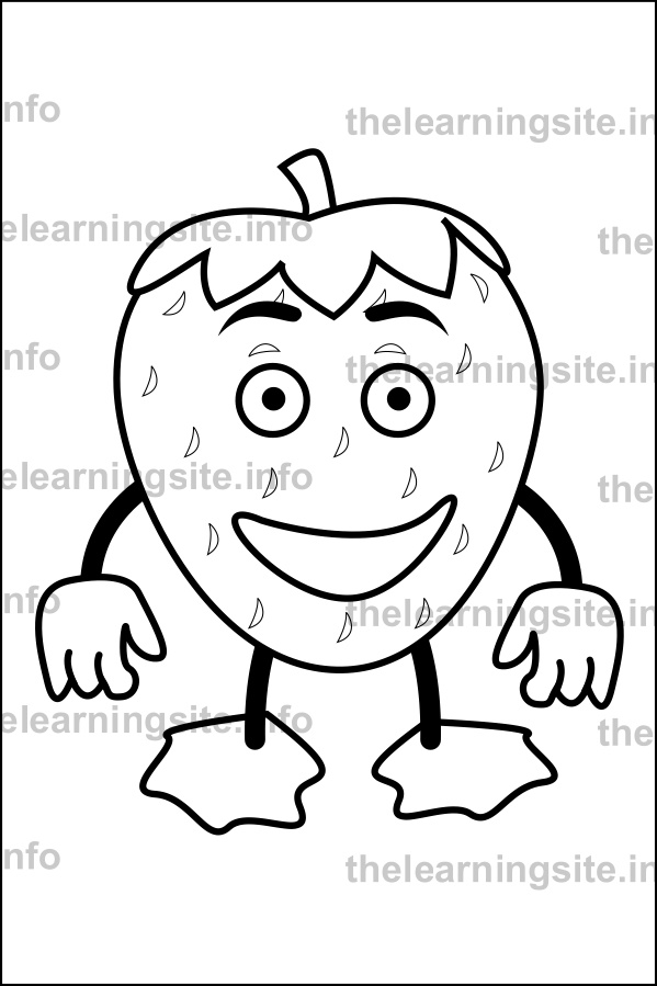 coloring-page-outline-fruit-characters-strawberry-sample