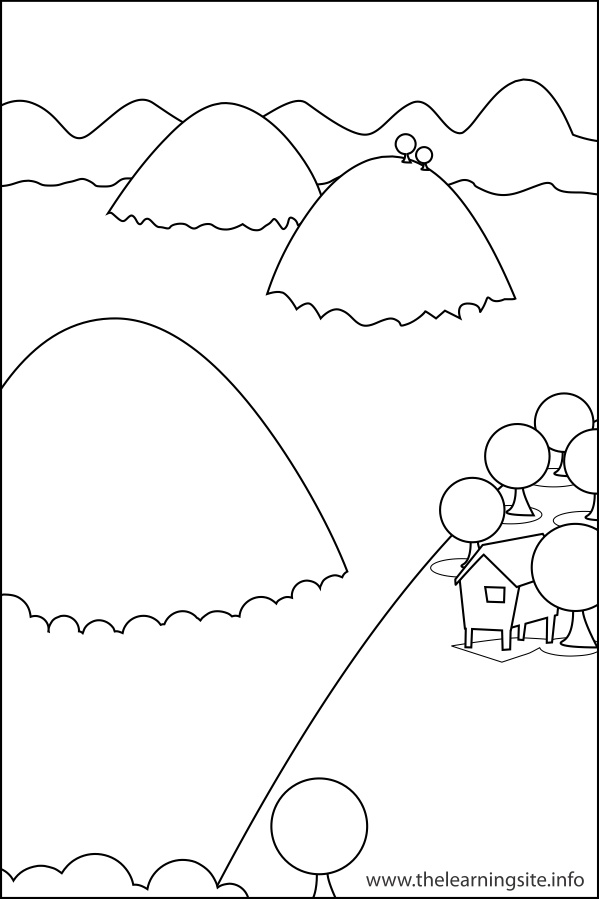coloring-page-outline-nature-landforms-hills