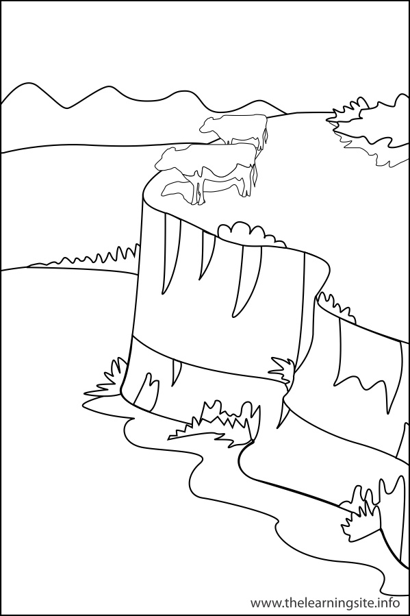 coloring-page-outline-nature-landforms-loess