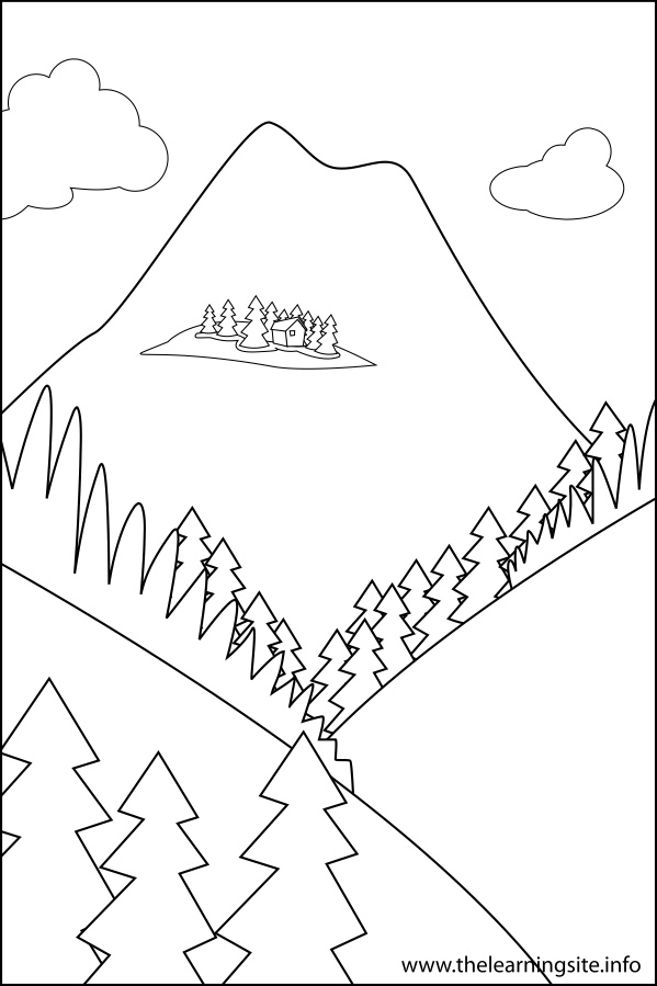 Landform Plateau Coloring Sheets Coloring Pages Landforms Coloring Pages