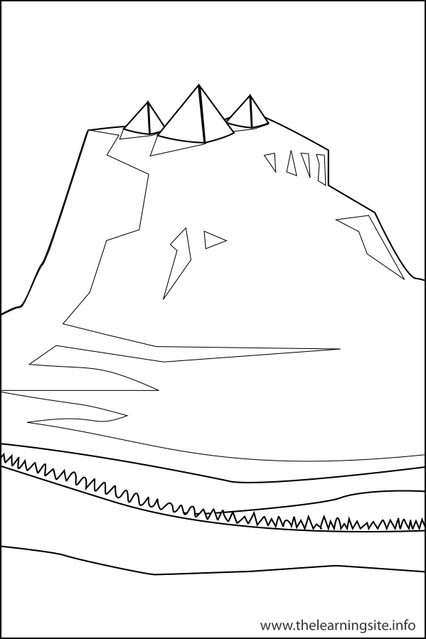 Free Land Forms Coloring Pages Landforms Coloring Pages