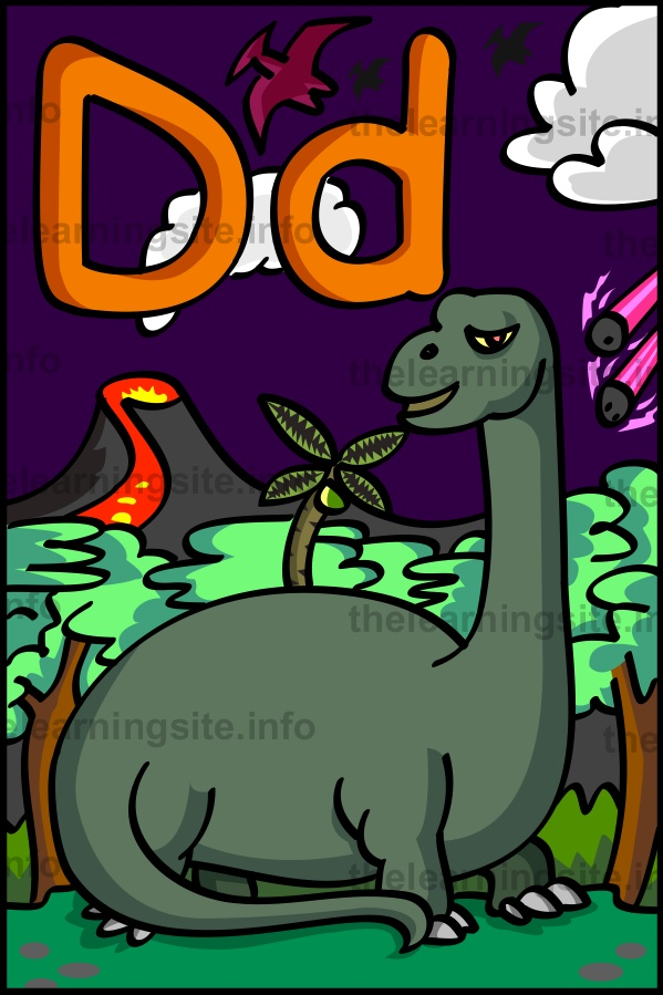 flashcard-alphabet-letter-d-dinosaur-sample