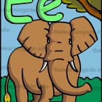 flashcard-alphabet-letter-e-elephant-sample