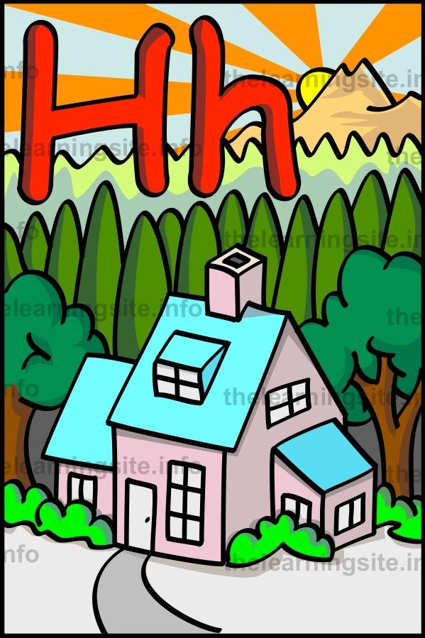 flashcard-alphabet-letter-h-house-sample