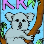 flashcard-alphabet-letter-k-koala-sample