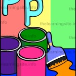 flashcard-alphabet-letter-p-paint-sample