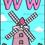 flashcard-alphabet-letter-w-windmill-sample