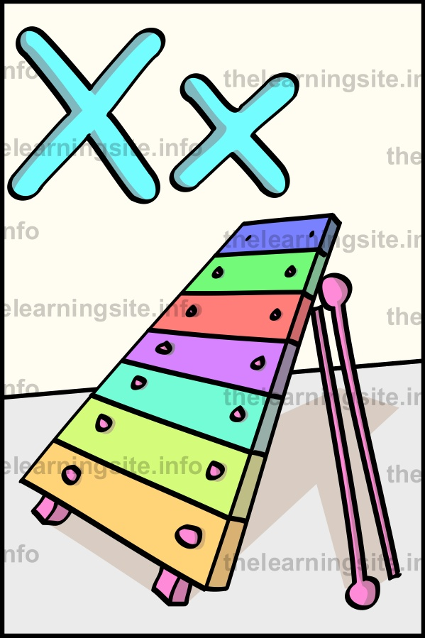 flashcard-alphabet-letter-x-xylophone-sample