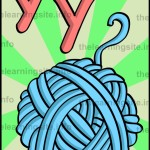 flashcard-alphabet-letter-y-yarn-sample
