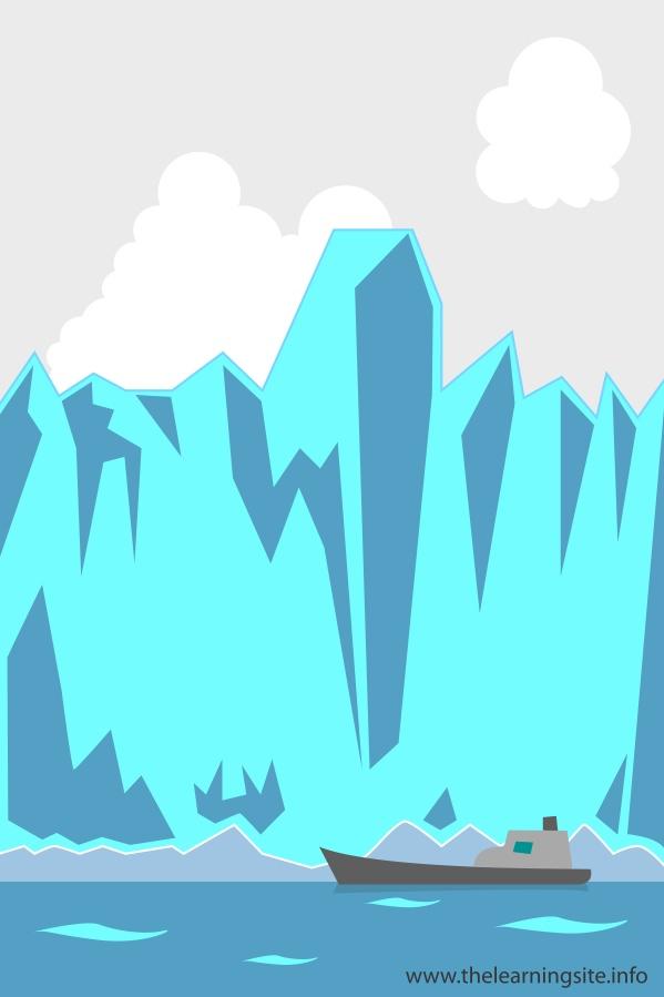 flashcard-nature-landforms-glaciers