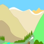 flashcard-nature-landforms-valley