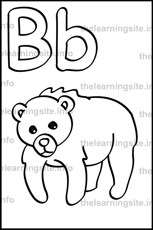 coloring-page-outline-alphabet-letter-b-simple-bear-sample