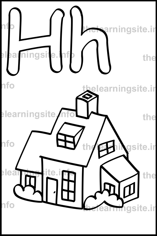coloring-page-outline-alphabet-letter-h-simple-house-sample