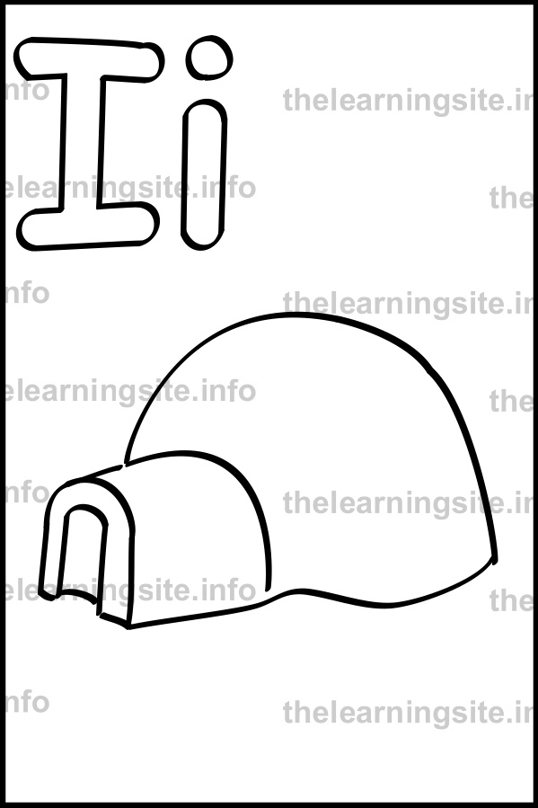 coloring-page-outline-alphabet-letter-i-simple-igloo-sample