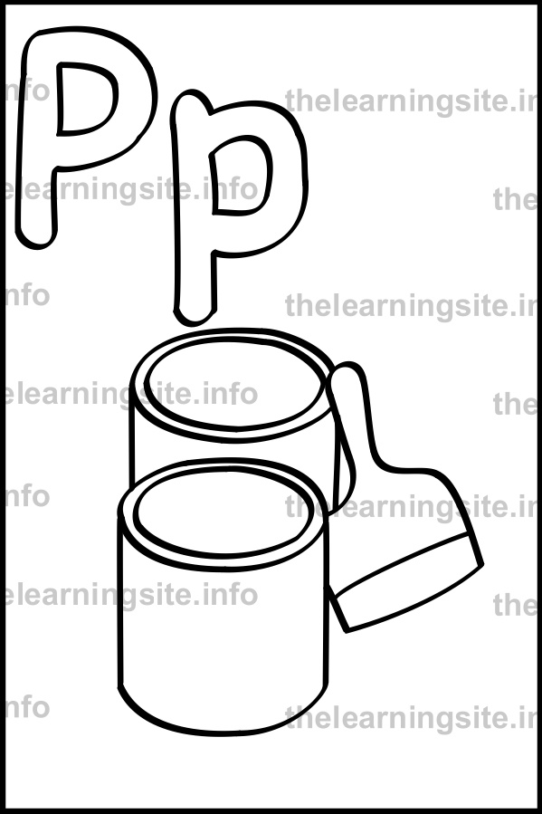 coloring-page-outline-alphabet-letter-p-simple-paint-sample