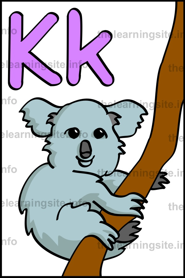 flashcard-alphabet-letter-k-simple-koala-sample