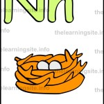 flashcard-alphabet-letter-n-simple-nest-sample