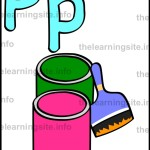 flashcard-alphabet-letter-p-simple-paint-sample