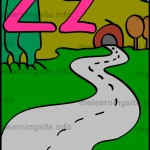 flashcard-alphabet-letter-z-simple-zigzag-sample