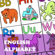 English Alphabet Flashcards (Premium Product - Simple)