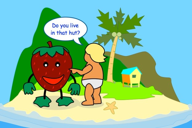 theproddingchild and the happy strawberry