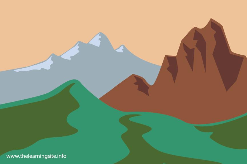 Mountains Flashcard