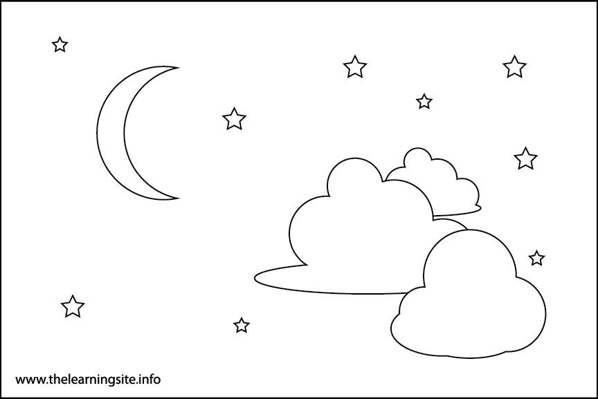 Night Sky Coloring Page