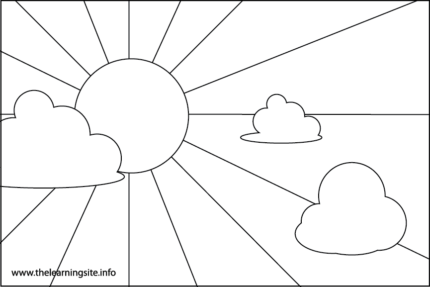 Day Sky Coloring Page