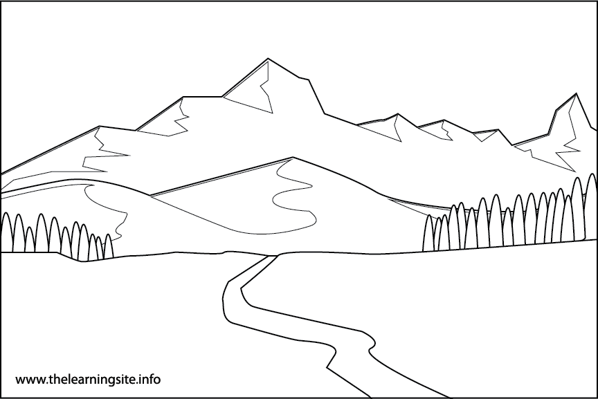 Alpine Tundra Coloring Page