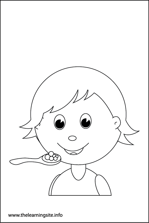 Adverb Happily Coloring Page