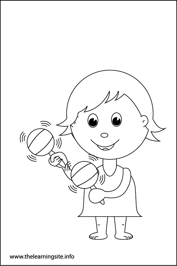 Adverb Loudly Coloring Page