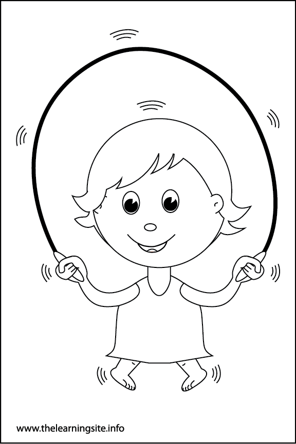 Adverb Quickly Coloring Page