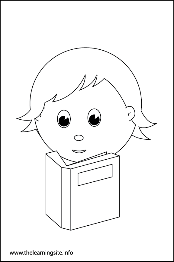 Adverb Quietly Coloring Page