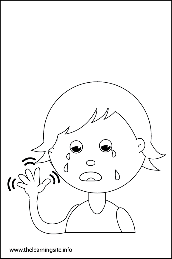 Adverb Tearfully Coloring Page