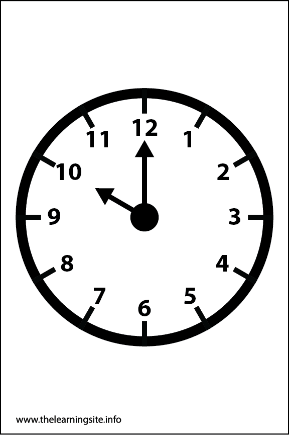 Clock Faces Coloring Page 10 o'clock